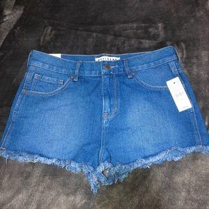 Blue High Rise Festival Pacsun shorts